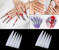 Wholesale 10Pcs Sharp False Nail Professional salon False Acrylic Nail Art Tips display fake nails tools decorated styling tools DHL