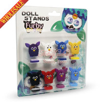 Wholesale Novelty Furby Doll Stands Cartoon PVC Action Figure Toy Model Play Doll Anime Desk Car Accessories Kids Party Supplies