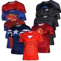 uv t-shirt - 2015 Superhero Captain America Marvel Comics Costume Cycling Tee T Shirts Short Sleeve Bicycle Jersey long sleeves XS XL