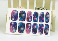 auto art stickers - Y5072 Manicure D Decals Auto Adhesive Nail Art Stickers Dark Purple Galaxy Blurry Dull Polish Design Nail Wraps Stickers Decal