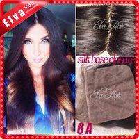 Cheap 6A Cheap Silk Base Closure Brazilian Virgin Human Hair 4x4 Straight Silk Top Lace Cosure Bleach Knots Free Middle 3 Part Closure