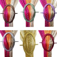 Wholesale window curtain buckle accessories tieback hook straps high quality colors LW275x20