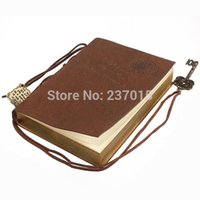Wholesale Classic Retro Vintage Leather Bound Blank Pages Notebook Journal Diary Brown