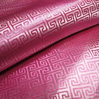 Wholesale Specials Water pink fret brocade fabrics silk satin fabric China Wind Home costume half a meter