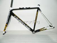 Wholesale 2014 full fiber carbon road bike frame T700 UD k weave carbon road frame frames black gloden fork DIY frames bicycle bike carbon frame set