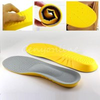 athletic shoe insoles - New CM Inches Memory Foam Breathable Sweat Absorbing Orthotic Arch Soft Comfortable Athletic Insole Shock Sport Shoes Pad