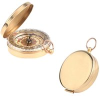 Wholesale Classic Pocket Watch Style Bronzing Antique Camping Compass For Outdoor activities Travel Hiking Pocket Brass Watch
