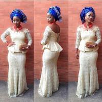 bella clothes - bellanaija weddings Dresses aso ebi styles Long Sleeve aso ebi styles nigerian Lace bella naija traditional aso ebi wedding dresses Clothing