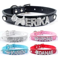 Wholesale colors Leather Dog Collars Gator Skin Personalized Dog collars Customized Lethaer Pet Collar for mm letters