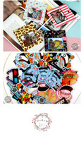 Wholesale Japan Vintage World Series Gift Seal Flake Kawaii Sticker Pack Bag Hot Selling Decoration Packing Stickers MW