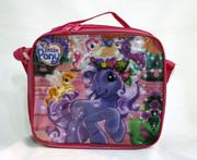 Multicolor big lunch bags - Turtle Big Hero My Little pony Car Anna Elsa Kids Cartoon Lunch Box Set Nylon Cartoon Lunch bag