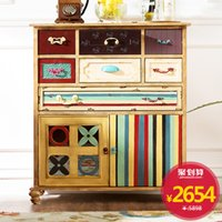 Wholesale Brand Group European retro furniture color Seattle foyer storage Drawers Cabinet Office entrance cabinet h