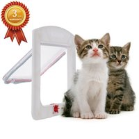 Wholesale 4 Way Small Pet Cat Kitten Dog Supply Lock Lockable Safe Flap Door order lt no track