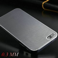 Wholesale 0 mm Thin Aluminum Hard Case for iphone S Titanium Steel Mesh Metal Back Cover Colors Drop Shipping