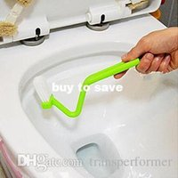 toilet brush - FEDEX Toilet brush multifunctional curved handle toilet brush cleaning brush long handle plastic