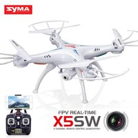 Wholesale Syma X5SW Ghz RC Quadcopter MP Wifi FPV Camera Photography Remote Control Mini Aircraft Airplane Gift