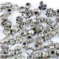 Wholesale 925 silver plated Big Hole Beads for Pandora Charm Bracelets ilia Biagi Bracelets Metals Alloy Loose Beads Jewelry DIY charms
