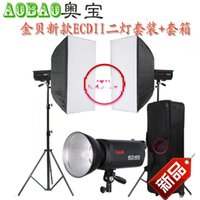 Wholesale JINBEI Spark Series Professional Studio Flash Strobe Photographic Equipment Ecdii Two Light Package Box softbox