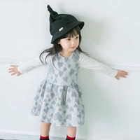 100% wool - Babies Girls Lace Frilled Patchwork Wool Blend Dresses Western Sleeveless Ruffles Fall Winter Warm Dresses