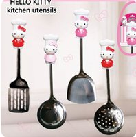 Wholesale Cute HelloKitty spoon pancake turner Hollow spatula colander soup ladle Kitchenware meal