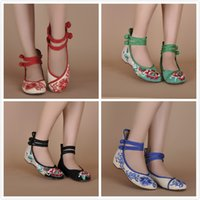 beijing summer - New Ethnic Chinese style low heeled embroidered shoes old Beijing shoes women shoes casual shoes spring and summer women s singles y