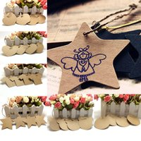 Wholesale 50Pcs Many Styles Vintage Blank Bookmark Brown Kraft Paper Hang Tags Wedding Favor Label Gift Cards With String DIY tag