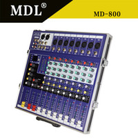 Wholesale Professional Audio Mixer MD with USB SD LCD pro audio sound mixer mixer console audio professional sound system