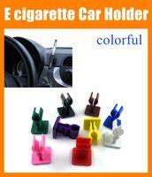battery clamps clips - ecig E cigarette Car Holder eclip clamp stander e clip for ego T e cig batteries Mechanical Mod with sticky bottom plastic car holder FJ047