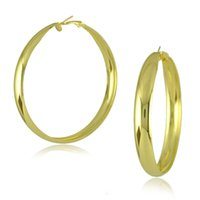 Wholesale 2015 HOT Brand Design Fashion Jewelry Vintage Big Hoop Earrings K Gold Plated Earrings For Women pairs E1581