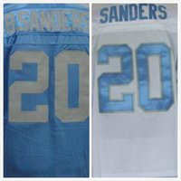 barry sanders throwback jerseys authentic - Factory Outlet Barry Sanders Throwback Jersey Blue White Cheap Authentic Sports Jerseys Stitched