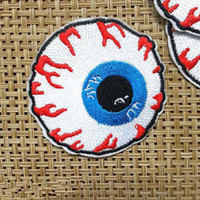 Wholesale Eyeball Embroidered Iron On Applique Motif Patch CM