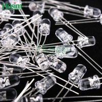 Wholesale MCD Transparent Round LED MM Green Light Colour LED bulbs green light emitting diode F5mm Green LED
