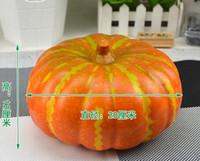 foam pumpkins - 20 CM High quality artificial fake vegetables simulation foam yellow pumpkin decoration props