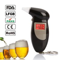 Wholesale Car Styling LCD Digital Alcohol Breath Analyzer Tester Mouthpieces Alcotester Detector the Breathalyzer Test Meter Detector Tools