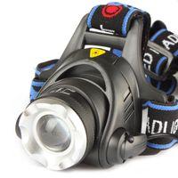 aa battery headlamp - Waterproof CREE XML T6 Zoom LED Headlight Headlamp Head Lamp Light Zoomable Adjust Focus For Bicycle AA battery