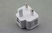 Wholesale DHL Samsung UK Plug Power Adapter USB Home Wall Charger AC DC V A A Pin Travel Adapter UK Version Cell Phone Universal Charger