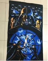 Wholesale 75 cm Star Wars armed white soldiers Jedi Darth Vader children bath towels Cartoon cotton beach towel Beach accessories