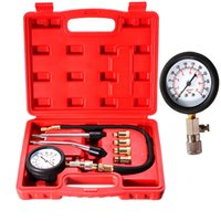 automotive compression tester - Automotive Petrol Engine Compression Tester Test Kit Gauge Motorcycle Tool Valve