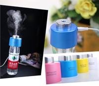 mini usb ultrasonic humidifier - New Creative USB Portable Mini Water Bottle Caps Humidifier Air Diffuser Aroma Mist Maker