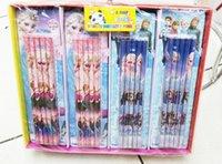 Wholesale Hot Fr z n Stationery HB Pencil cm elsa anna School pencil bag freeshipping