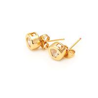 jewelry supply wholesale - 1 Fashion Crystal Ear Jewelry Charm K Gold Love Heart Stud Earrings Brincos For Women Girl original factory supply J0001