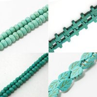 Wholesale New Top Quality Sale Round Natural Green Turquoise Beads for Jewelry Making to pick size BTB