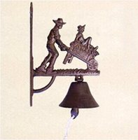 bell carts - FBH061547 Europe and the United States rural style cart iron bell wall ornaments