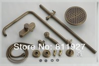 Wholesale Luxury antique brass bronze mixer shower bath faucet set low price for promotion fast delivery style bathroom faucets