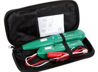 Wholesale 5pcs new mastech ms6812 wire telephone network cable tester linea tracker con borsa per il trasporto telefono strumenti di rete