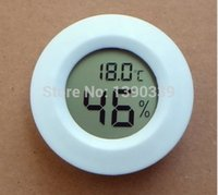 Wholesale free by fedex dhl Mini LCD Digital Thermometer Hygrometer Fridge Freezer Temperature Humidity Meter