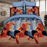 Cheap Spiderman charactor 3d bedding set king bed linen duvet cover bed sheet set 3D bedclothes 4pcs free drop shipping