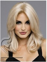 beautiful par - Beautiful new fashion medilum long blonde middle par womens wig partys wig
