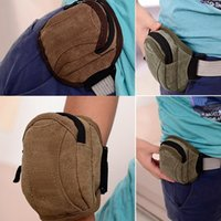 Wholesale 2pcs Fashion Canvas Waist Packs Zipper Sport Arms Bags Cell Phones Pouches Men s Camping Climbing Accessories hb355