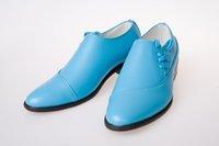 Wholesale 2014 New Arrival Men Leather Shoes Men s Casual Shoes Wedding Dress Shoes Leather Shoes Men s Prom Dress Shoes Blue Black Size YY892